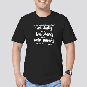 Micah 6:8 Men's Fitted T-Shirt (dark)
