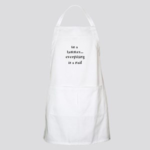 to a hammer... BBQ Apron
