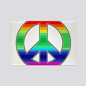 Peace Sign 2 Rectangle Magnet