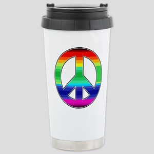 Peace Sign 2 Stainless Steel Travel Mug