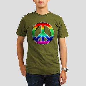 Peace Sign 2 Organic Men's T-Shirt (dark)