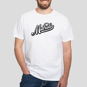Midrealm b/w retro White T-Shirt
