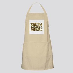Rich Girl In Gold BBQ Apron