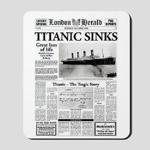 "London Herald ""Titanic SInks Mousepad"