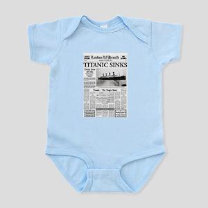 """London Herald """"Titanic SInks Infant Bodysuit"""