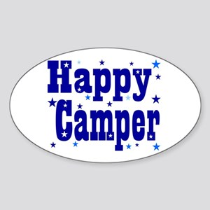 Happy Camper Oval Sticker