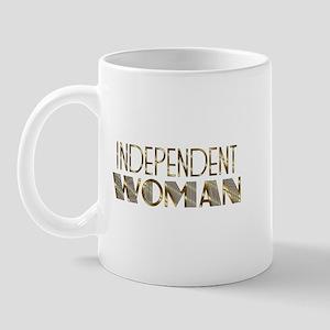 Independent Woman Gold Mug