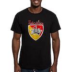 Sicilian Trinacria Men's Fitted T-Shirt (dark)