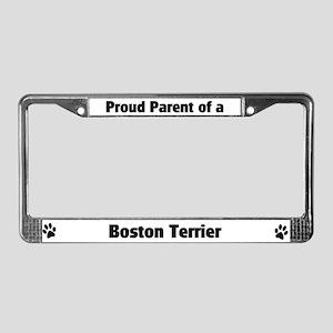 Proud: Boston Terrier  License Plate Frame