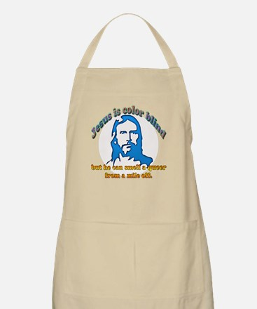 Jesus Can Smell A Queer BBQ Apron
