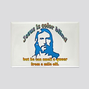 Jesus Can Smell A Queer Rectangle Magnet