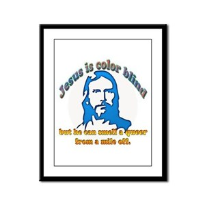 Jesus Can Smell A Queer Framed Panel Print