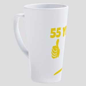 Took 55 Years To Look This Good Bi 17 oz Latte Mug