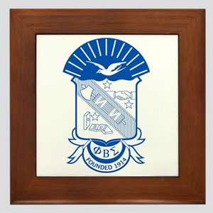 Phi Beta Sigma Framed Tile