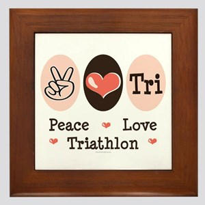 Peace Love Tri Framed Tile