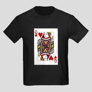 Queen of Hearts Kids Dark T-Shirt