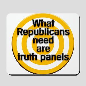 truth panels Mousepad