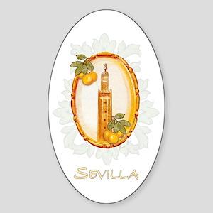 Sevilla / Spain (1) Oval Sticker