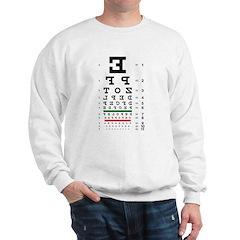 Backwards letters eye chart Sweatshirt