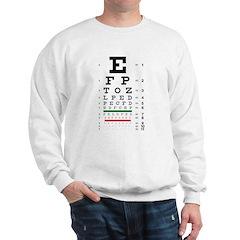 Fading letters eye chart Sweatshirt