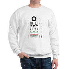 Abstract symbols eye chart Sweatshirt #1