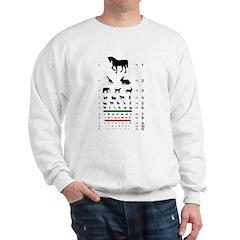 Animal silhouettes eye chart Sweatshirt