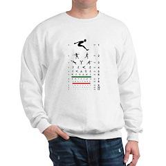 Sports figures eye chart Sweatshirt