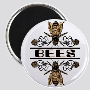 Bees With Clover Magnet