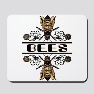 Bees With Clover Mousepad
