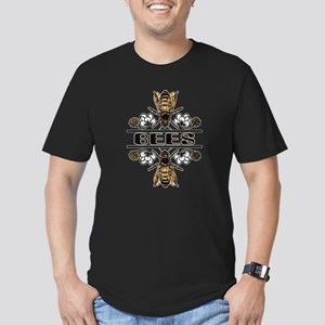 Bees With Clover Men's Fitted T-Shirt (dark)