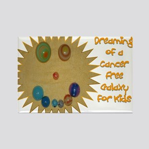 Cancer Free Kids (Galaxy) Rectangle Magnet