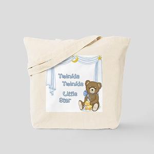 Twinkle Bear - Baby Boy Tote Bag