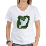 On Silent Wings: Women's V-Neck T-Shirt