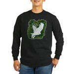 On Silent Wings: Long Sleeve Dark T-Shirt