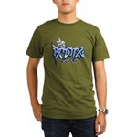 Bronx Graffiti Organic Men's T-Shirt (dark)