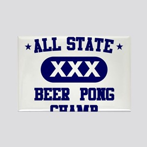 All State Beer Pong Rectangle Magnet