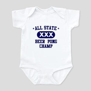 All State Beer Pong Infant Bodysuit
