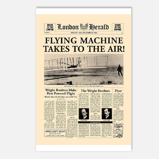 Wright Bros. Headline Postcards (Package of 8)