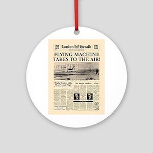 Wright Bros. Headline Ornament (Round)
