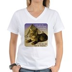 Cats in Egypt Women's V-Neck T-Shirt