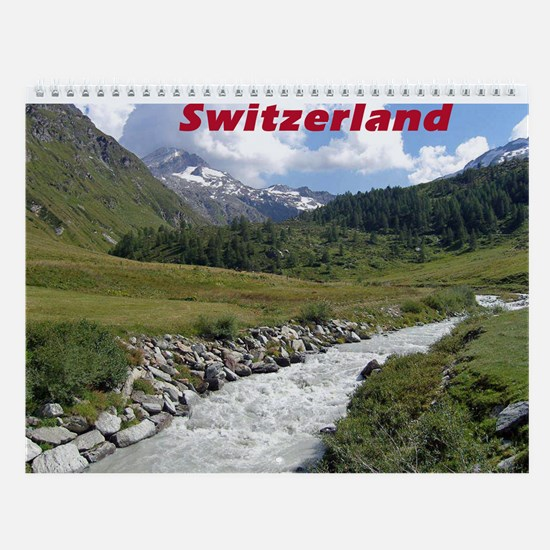 Fextal Valley, Switzerland Wall Calendar