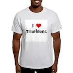 I Love Triathlons Light T-Shirt