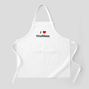 I Love Triathlons BBQ Apron