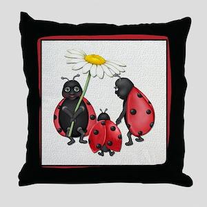 Ladybug Stroll Throw Pillow