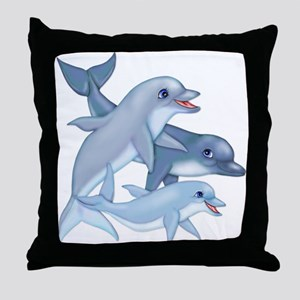 Dolphin Family Throw Pillow
