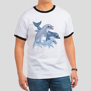 Dolphin Family Ringer T