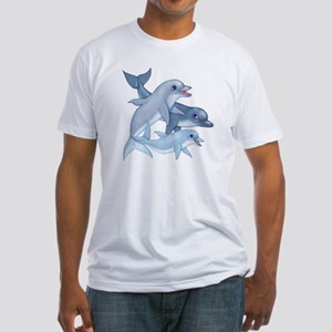 Dolphin Family Fitted T-Shirt