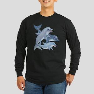 Dolphin Family Long Sleeve Dark T-Shirt