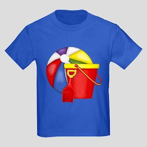 Beach Toys Kids Dark T-Shirt