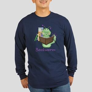 Bookworm Long Sleeve Dark T-Shirt